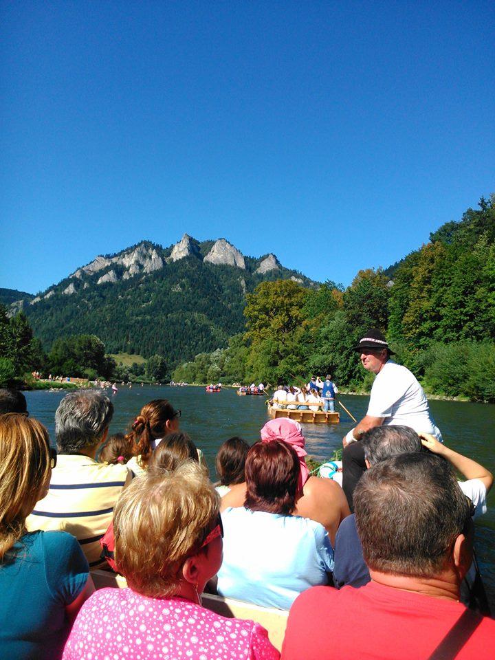 Plte na Dunajci Splav Dunajca na pltiach