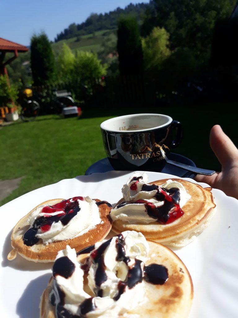 Penzión Antiqua Villa raňajky lievance