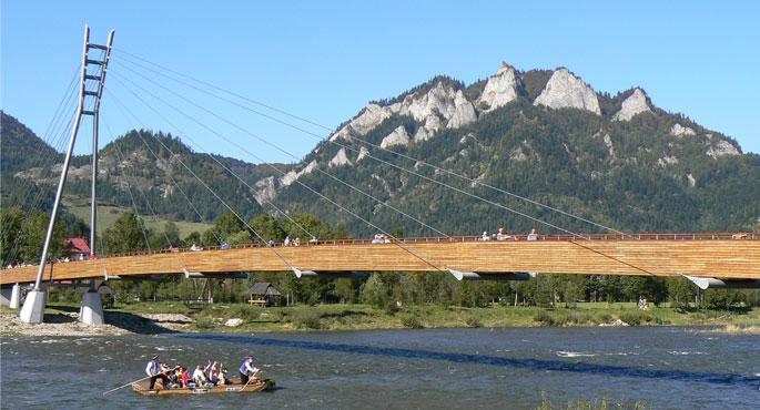 Plte Dunajec Pieniny Tri koruny Most z Červeného Kláštora do Poľska